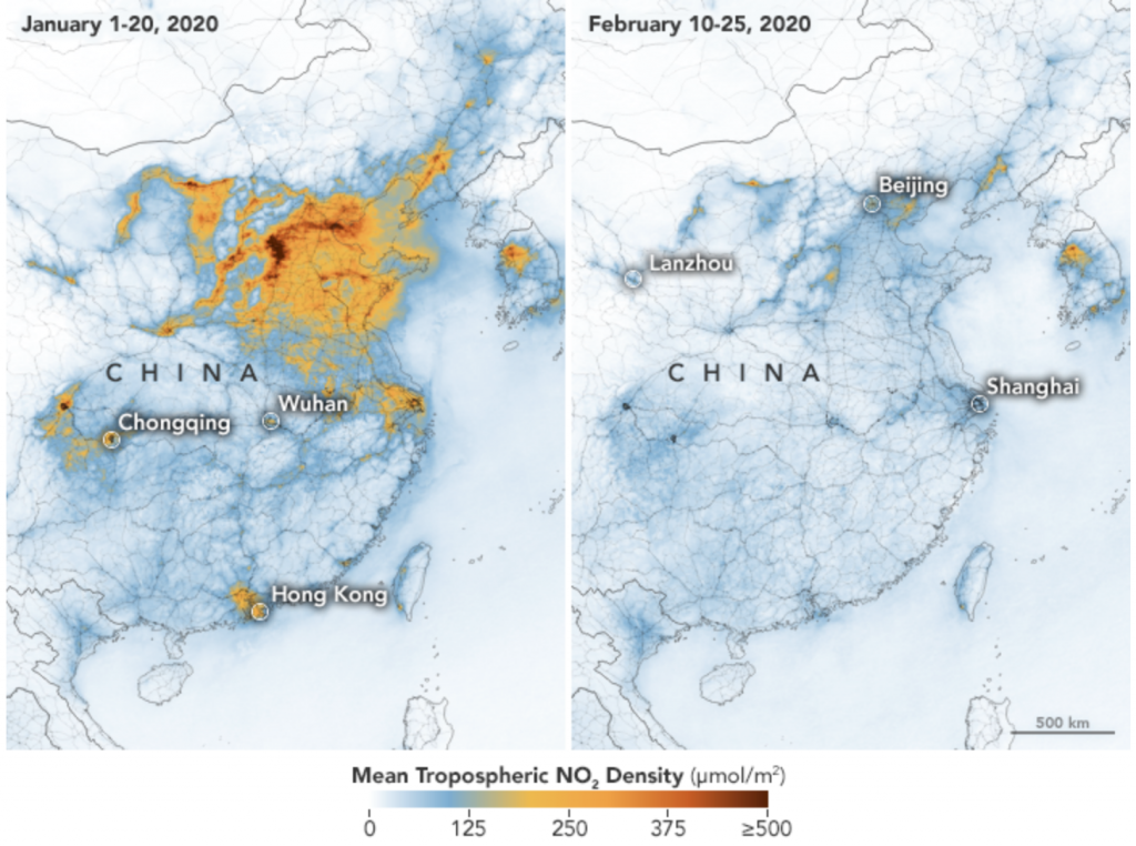 covid-19 effect on climate in china