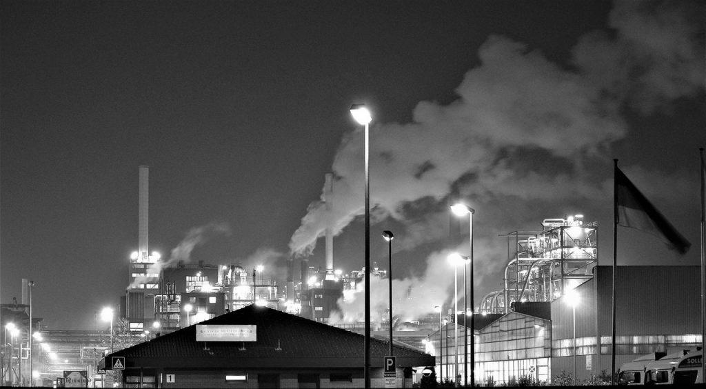 co2 emitting plant and smog