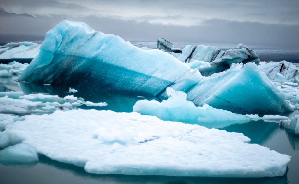 image of melting ice cap